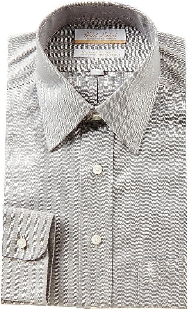 Gold Label Roundtree & Yorke Non-Iron Regular Point Collar Dress Shirt F75DG021 Charcoal