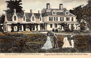 Marshfield Massachusetts Webster House Street View Antique Postcard K79481