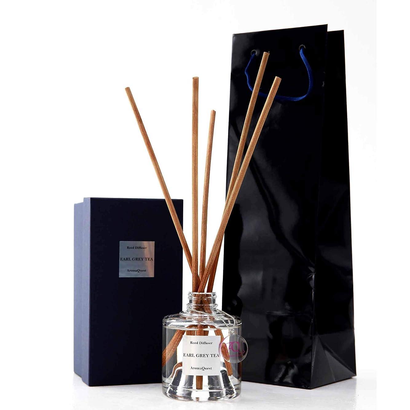 一掃する促すウッズルームフレグランス リードディフューザー アロマディフューザー 150ml アールグレイティー EARL GREY TEA 紅茶の香り
