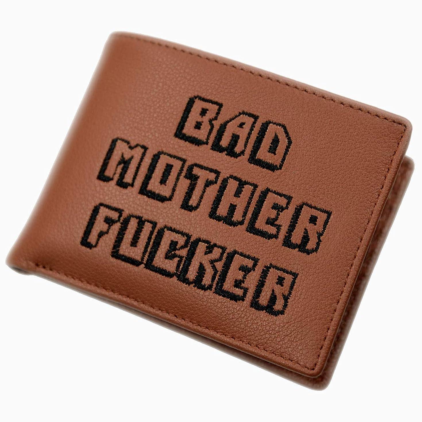 重要気分が悪い説教するBAD MOTHER FUCKER パルプ フィクション 本革 二つ折り財布
