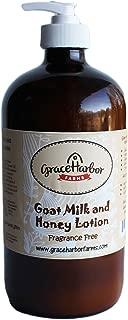 Goat Milk and Honey Lotion, Fragrance Free 32 oz