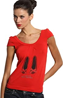 SENSI' T-Shirt Donna Manica Corta Stampa My Shoes Morbido Micromodal Traspirante Senza Cuciture Seamless Made in Italy