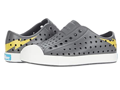 Native Kids Shoes Jefferson (Toddler/Little Kid) (Dublin Grey/Shell White/Groovy Lightning) Boys Shoes