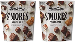 Fannie May S'mores Snack Mix, Milk Chocolate Covered Mini Marshmallows and Graham Cereal, 18oz Bag, 2 Pack