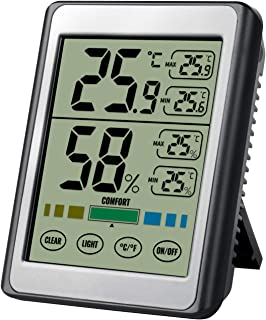 Hygrometer Thermometer, SOFER Digital Hygrometer Indoor Thermometer Room Humidity Gauge with Battery, Temperature Humidity...