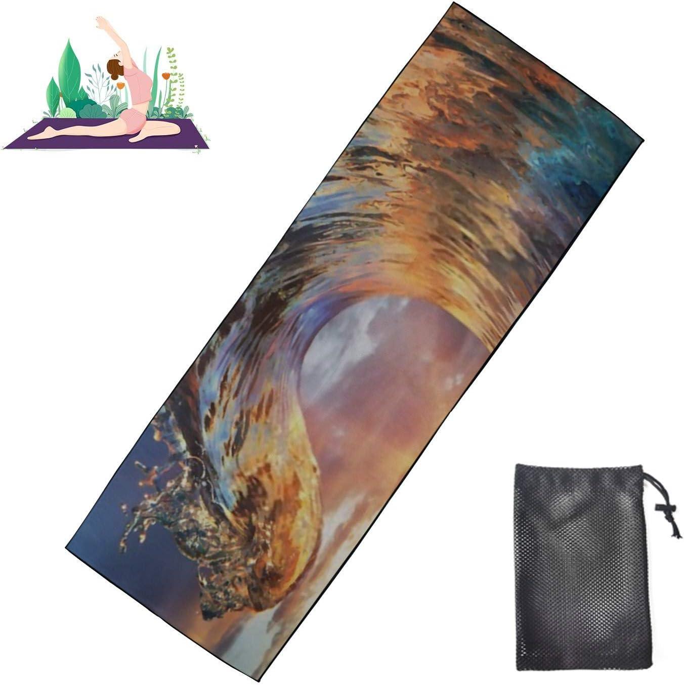 HJSHG Spasm price Yoga Mat Towel Colorful Ocean Crest Wave Fitness New item Water Sea