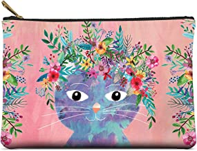 Studio Oh! Large Zippered Pouch Available in 8 Designs, Eli Halpin Bunny Friends