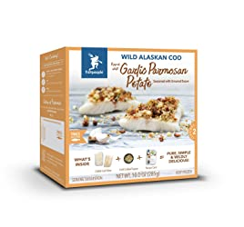 Fishpeople Wild Alaskan Cod Kit - Garlic Potato & Parmesan (2 fillets + Crunchy Topper + Recipe Card