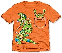 Nickelodeon Little Toddler Boys Teenage Mutant Ninja Turtles Faux Pocket Tee T-Shirt