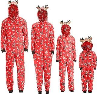 HZONGBO Świąteczna piżama rodzinne pasujące stroje mama tata kombinezon śpioszki dla dzieci Boże Narodzenie przyjęcie matk...