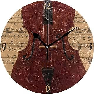 MIKA -音楽 コントラバス-あ た 色 選んで下さい 時計 壁掛け デザイン クロック 掛け時計 置き時計 ウォールクロック インテリア 壁掛け 時刻 ギフト プレゼント 新築祝い おしゃれ 飾る かわいい アート