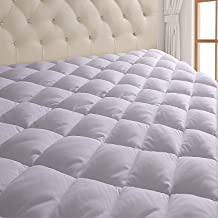 Free Pillow Cover Extra Deep Mattress Protector Quilted Fitted,S,D,K,SK