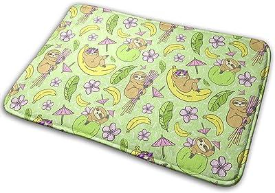 Tropical Sloths Carpet Non-Slip Welcome Front Doormat Entryway Carpet Washable Outdoor Indoor Mat Room Rug 15.7 X 23.6 inch