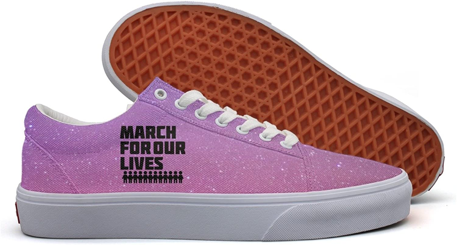March for our lives accessories Gun Control Women Comfortable Canvas Sneakers
