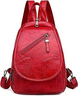 حقيبة ظهر رياضية من Wujianzzhobb، حقائب ظهر جلدية للنساء، حقائب سفر نسائية للسفر، حقيبة ظهر صغيرة متعددة الاستخدامات، جلد ...