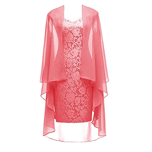 7da2cb5190d Ruiyuhong Women s Short Lace Mother of The Bride Dress with Jacket Formal  Gowns