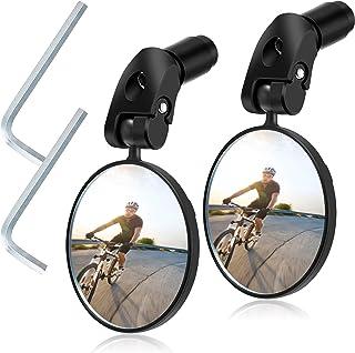 Espejo Espejos para Bicicletas Manillar de Bicicleta Carretera Espejo de Rotaci/ón 360 Ajustable montado pl/ástico Espejo Convexo para Mountain Road Bike PCTEB Espejo Retrovisor Bicicleta