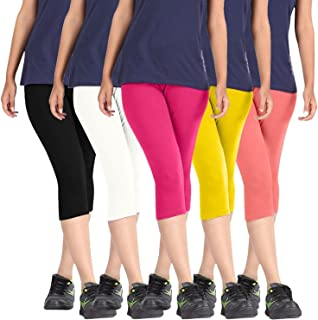 Rooliums Women'S Multicoloured Shorts(Rooliums®Capri-5-6_Multicoloured_Free Size)