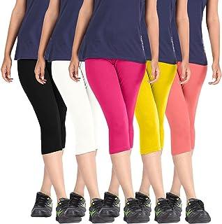 Rooliums Women'S Multicoloured Shorts(Rooliums®Capri-5-6_Multicoloured_Free Size)