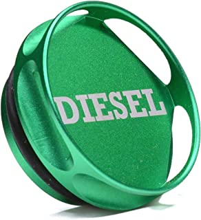 Magnetic Diesel Fuel Cap Accessory compatible with Dodge RAM TRUCK 1500 2500 3500 (2013-2019) with 6.7 CUMMINS EcoDiesel, New Easy Grip Design, Includes 2 O-Rings
