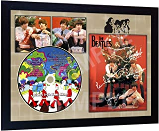 S&E DESING The Beatles Xmas Album Signed Framed Photo and CD Disc Presentation Display
