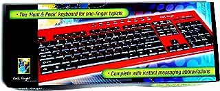 لوحة مفاتيح كمبيوتر بأصابع سريعة لـ Hunt & Peck يد واحدة، مفاتيح ناعمة ABC أو Qwert مع وظائف مبرمجة واتصال USB سلكي. لوحة ...