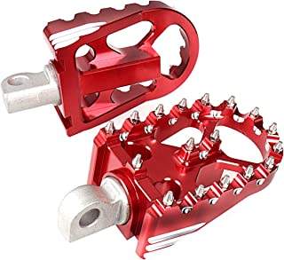 Red Rotating Footpegs Custom Chopper Foot Pegs For Harley Dyna Sportster Touring 883