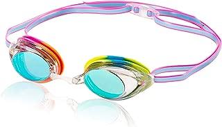 Speedo Vanquisher 2.0 Mirrored Swim Goggles, Panoramic, Anti-Glare, Anti-Fog with UV Protection