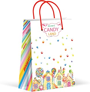 Premium Candyland Party Bags, Candy Favor Bags, Treat Bags, Party Supplies, 12 Pack
