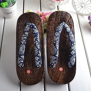Chanclas de madera con puntera cuadrada para hombre, japonés, étnico, oriental, geta zuecos, kimono, año nuevo, sandalias ...