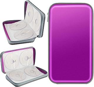 Porta CD,Coofit Estuche CD de 80 Disco Almacenamiento CD DVD Funda Protectora