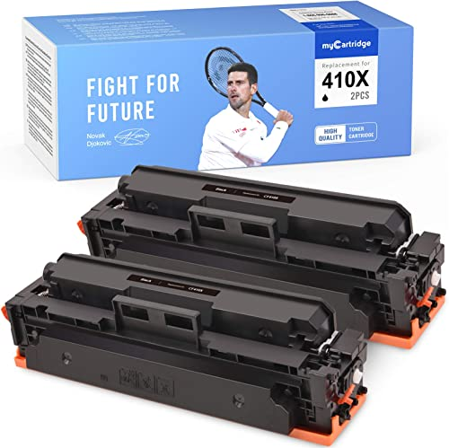2021 MYCARTRIDGE Compatible Toner Cartridge Replacement for HP 410X CF410X online sale 410A CF410A for Color Laserjet Pro M452dn M452dw M452nw MFP M477fdw M477fdn M477fnw M377dw lowest (Black, 2-Pack) sale