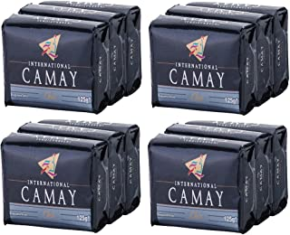 (12 Bars of Soap, 130ml Each Bar, Chic Fragrance) - Camay CHIC Softly Scented Bar Soap (PACK OF 12) All-in-one exfoliating and moisturising soap Leaves Skin Smooth & Radian Great for Hands, Face & Body (12 Bars, 130ml Each Bar)