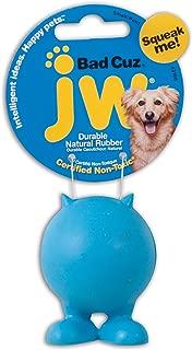JW Pet Bad Cuz hule Dog Toy, Multicolor