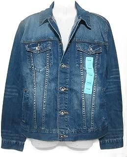 T.K Axel MFG Co. Men's Trucker Button Up Denim Jeans Jacket - Union