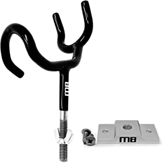 Marine Buddy Rod Holder with 1 of 3 Mounting Options   25 Degree   Durable PVC Coated Steel Wire Fishing Pole Holder for Boat   Dependable Corrosion Resistant Boat Accessories