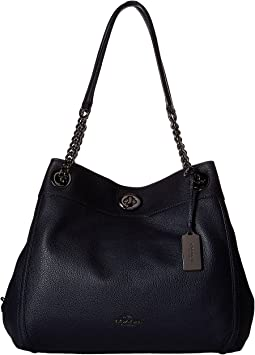 0c7bdb9d29ea Coach turnlock edie shoulder bag with quilting | Shipped Free at Zappos