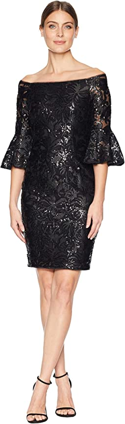 Sequin Off Shoulder Sheath