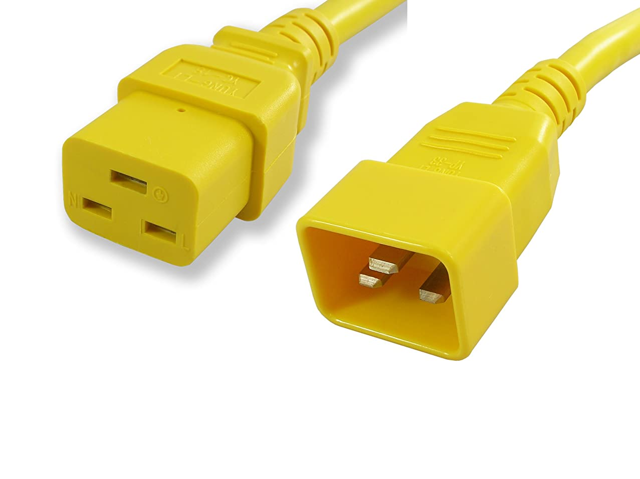 Lynn Electronics  C19C2020AYE-15F  20-Amp/250-volt  15-Feet Power Cord IEC 60320 C19 to IEC 60320 C20,  Yellow