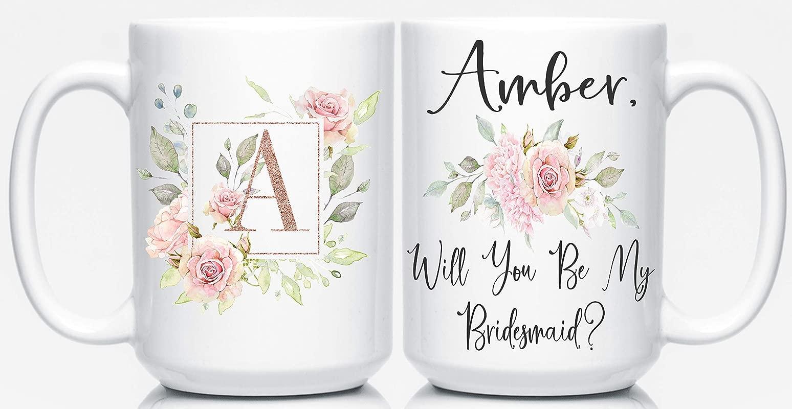 Pretty Phoxie Bridesmaid Proposal Wedding Coffee Mug Personalized Bridesmaid Gifts Will You Be My Bridesmaid