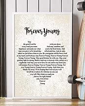 Mattata Forever Young Lyrics Poster Print (12
