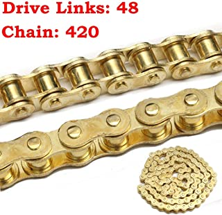 New Design 48 Outer Link 420 Drive Chain Belt 125cc Pit Quad Dirt Bike Motorcycle, Shovelhead Primary - Motor Belt Guard, Softail Primary Drive, Knucklehead Belt Drive, Shovelhead Primary