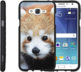 TurtleArmor   Compatible with Samsung Galaxy J7 Case (2015)   J700 [Slim Duo] Slim Compact 2 Piece Hard Snap On Case Grip Matte on Black Animal - Red Panda