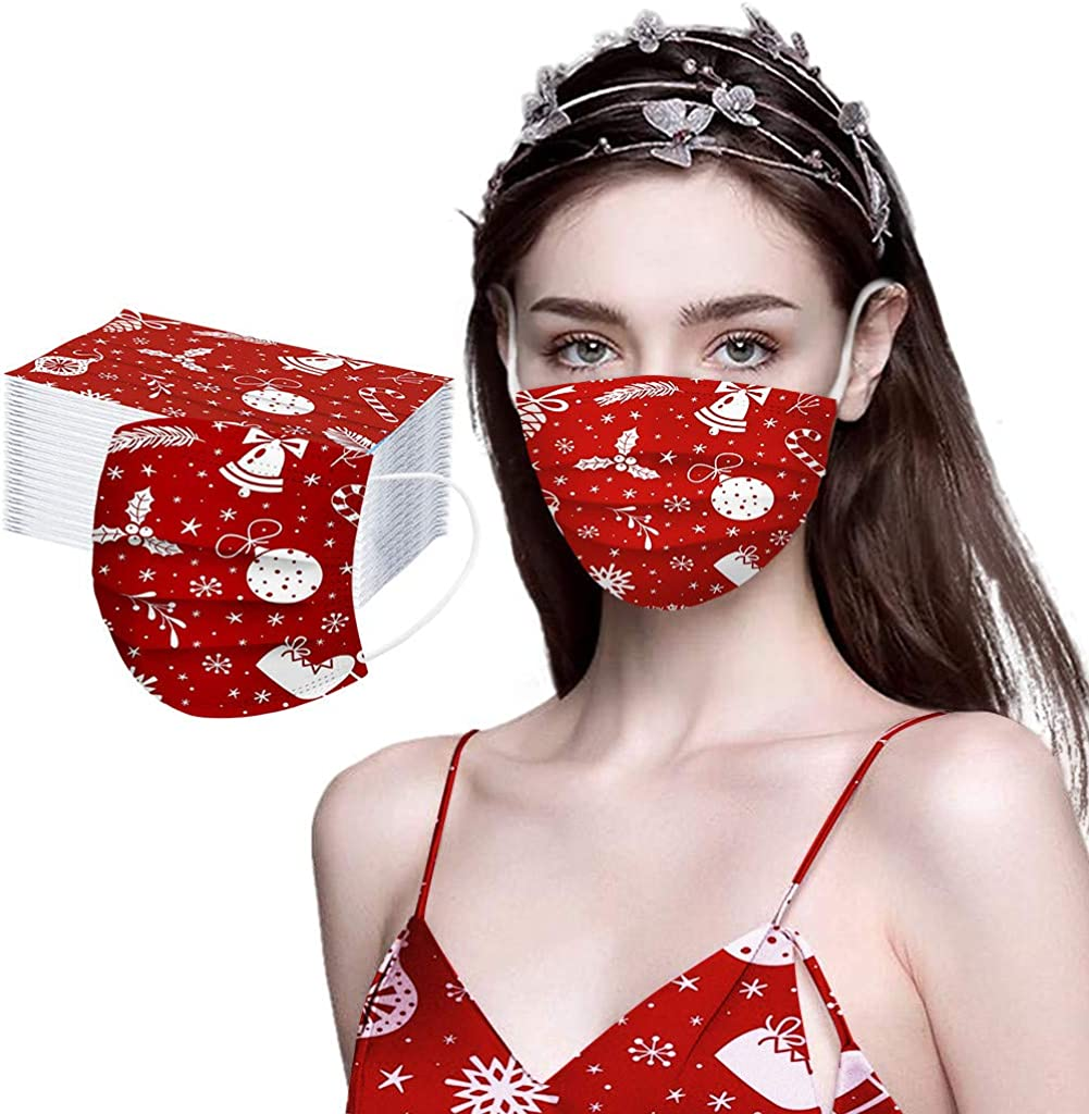 【USA Stock】 Christmas Face Mask 3 Masks Ranking TOP12 Disposable Ply gift