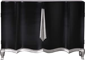 Right2Home Gloss Ribbon Door Storage Chest, Black