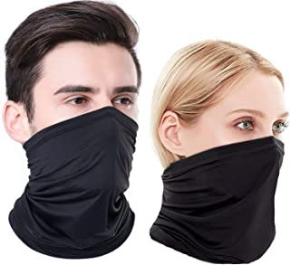 Summer Face Mask Protection from Dust, UV & Aerosols - Washable Neck Gaiter Balaclava, Bandana Face Cover UPF50++