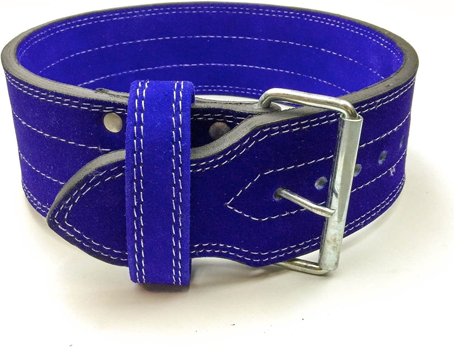 (Small 60cm - 70cm (Waist size not pant size), blueee) - Single Prong Powerlifting Belt 10mm Weight Lifting