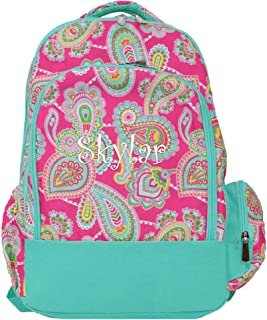 Viv & Lou Lizzie Personalized Pink Paisley Laptop Computer Backpack