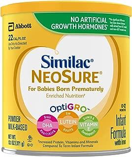 美国雅培Similac NeoSure 金罐装 早产儿配方奶粉,适用年龄:0-12个月,13.1盎司(371g)/罐 6罐装