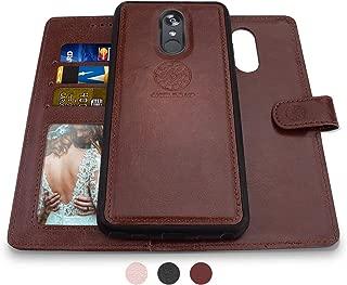 LG Stylo 3 Wallet Case, LG Stylo 3 Plus Case, Shileds Up [Detachable] Slim Magnetic Case, Card/Cash Slots, [Vegan Leather] Cover for LG Stylo 3 Plus -Brown